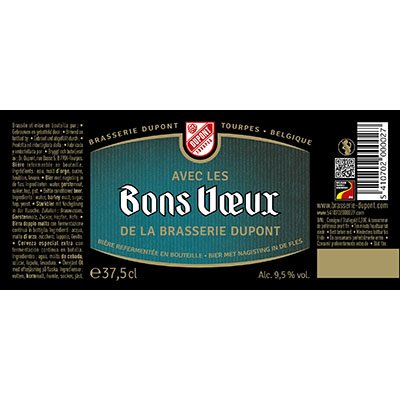 5410702000027 Bons Voeux - 37,5cl Bier met nagisting in de fles Sticker Front