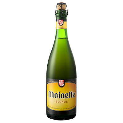 5410702000119 Moinette Blonde - 75cl Bier met nagisting in de fles