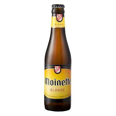 5410702000133 Moinette Blonde - 33cl Bier met nagisting in de fles